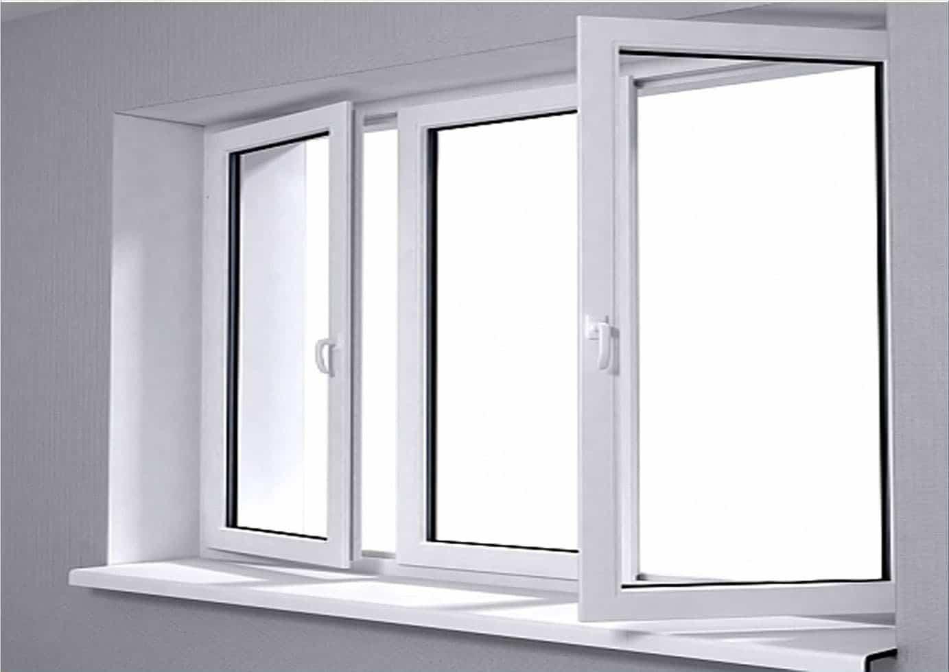 Mẫu cửa sổ mở quay nhôm kính cao cấp