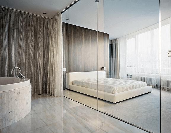 Mẫu vách ngăn kính cường lực phòng ngủ đẹp(Kính cường lực không chỉ cho bạn sự riêng tư mà còn cả cảm giác an toàn trong giấc ngủ)